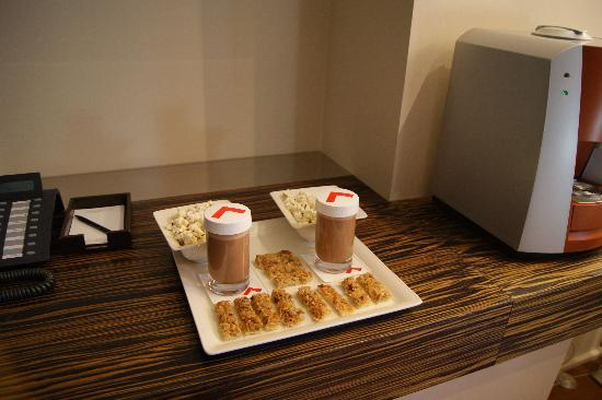 Swissotel Tallinn: Welcome snack