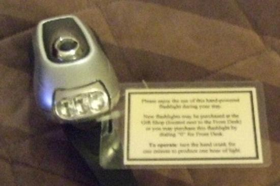 Bar Harbor Inn: Crank Flashlight Found in the Night Stand