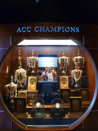 The Carolina Basketball Museum: ACC Championship trophies
