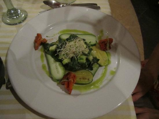Marival Resort & Suites: Cucumber salad at Mexican restaurant