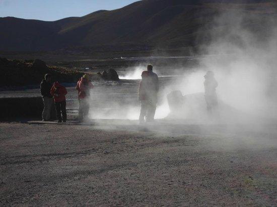 Geyser del Tatio: Fumarolen-Dämpfe