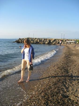 Pension Ecer: The beach, a short walk from Ecer Pension.