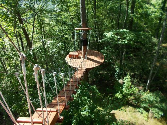 CLIMB Works - Smoky Mountains: zip platform