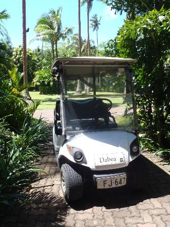 Shangri-La's Fijian Resort & Spa: The AWESOME golf buggy for our use whilst staying in the Bure!
