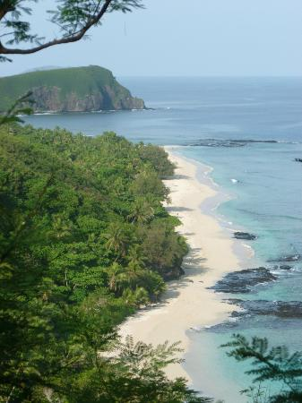 Yasawa Island Resort and Spa: The resort is down there