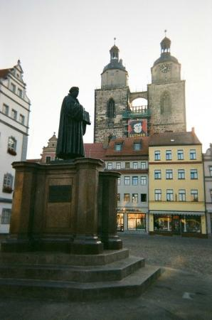 Stadtkirche, a World Heritage Treasure: In Luther's day there were no buildings isolating the church from the market square