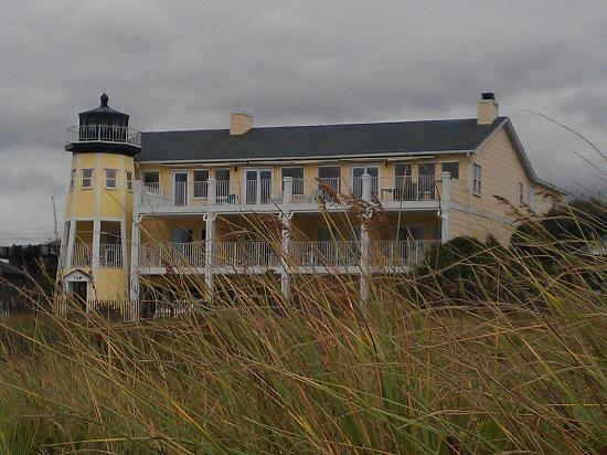Darlings By The Sea: View of the property from the beach.