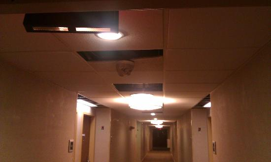 Radisson Nashua Hotel: One of the few smoke detectors not taped up with paper to keep dust out! Makes one feel real saf