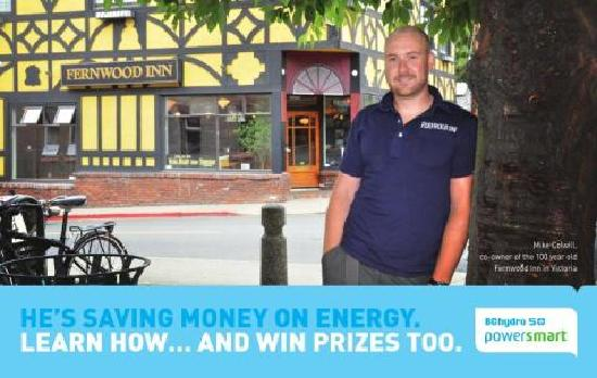 The Fernwood Inn: We're very energy efficient - just ask our GM! :)