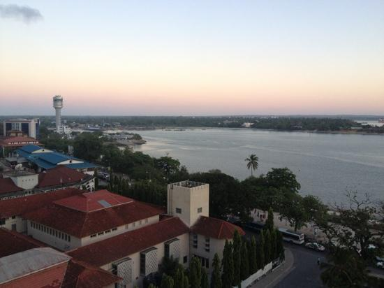 Dar es Salaam Serena Hotel: view from the Hilton roof bar