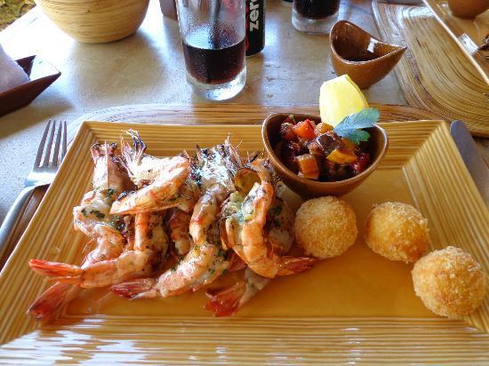 AYANA Resort and Spa: Gamberi alla Griglia with Sicilian Caponata & Arancini