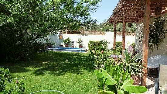 Lagoon Villa Apartments: Garden with Jacuzzi