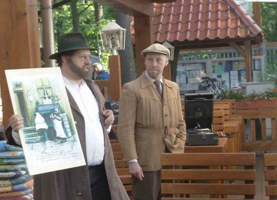 Anna Amalia Restaurant mit Seeterrasse: Unterhaltung mit frecher Berliner Schnauze: Zille