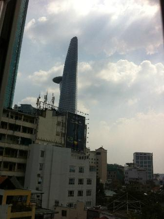 Tan Hoang Long Hotel: The view from our window