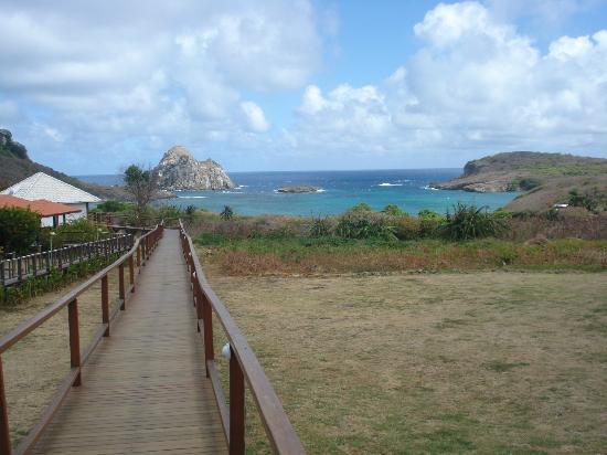 Pousada Solar Dos Ventos: Vista para a praia do Sueste