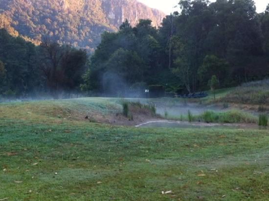 Eden Health Retreat: early morning fog. beautiful location.