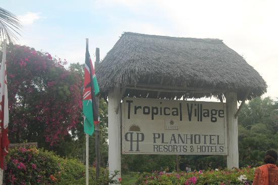 Sandies Tropical Village: Sign