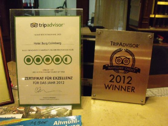 Hotel Burg Colmberg: Well deserved awards!