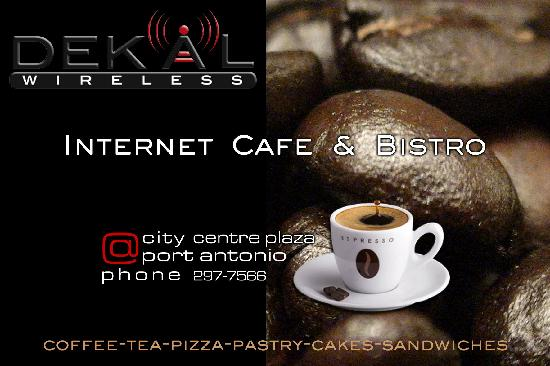 Dekal Internet Cafe & Bistro : The place to meet in Port Antonio in air-conditioned comfort