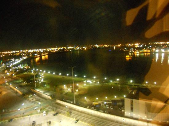 The Westin New Orleans Canal Place: The view from my room at night
