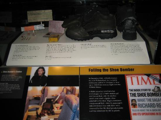 Newseum: Shoe Bombers actual shoe