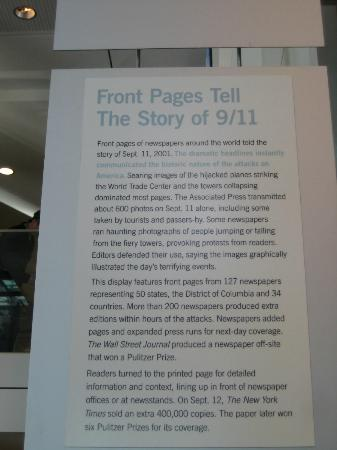 Newseum: Newspapers from around the world reporting on 9/11