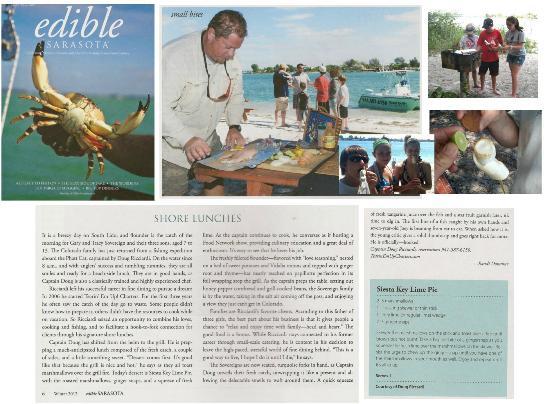 Tearin' Em Up! Fishing Charters: Edible Magazine Gourmet Shore Lunch Feature
