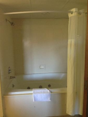 Quality Inn & Suites at Dollywood Lane: shower/tub