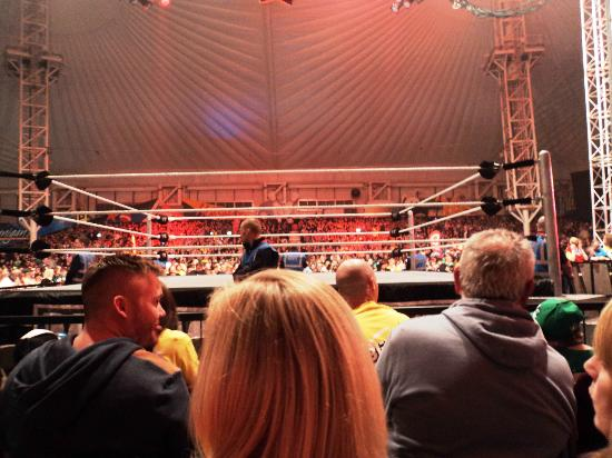 Butlin's Minehead: View of the ring from the 4th row