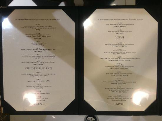 The Majestic Malacca: Menu