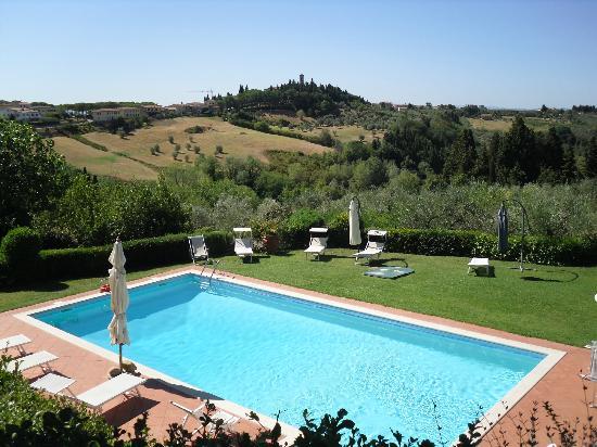 Villa Il Borraccio: Piscina con Vista Panoramica su Barberino Val d'Elsa