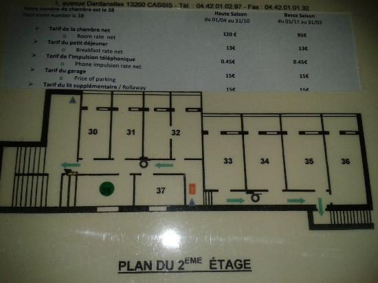 BEST WESTERN Hotel La Rade: situation de notre chambre (point noir)