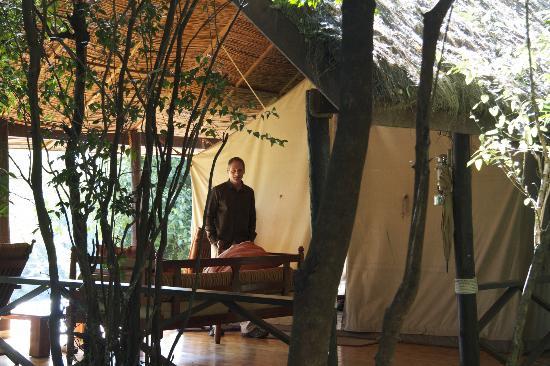 Sanctuary Olonana: Tent from back (across deck) 