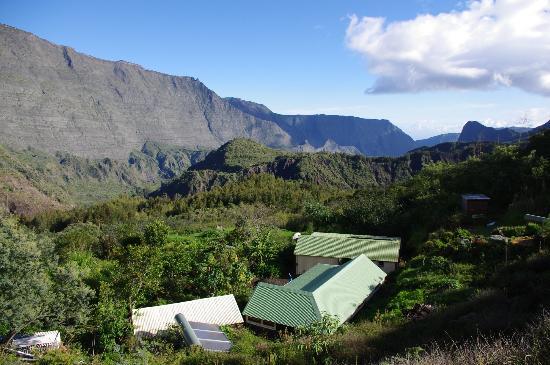 Mafate, Reunion Island: La vue depuis La Miellerie