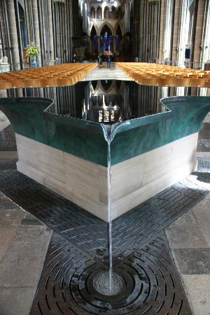 Salisbury Cathedral and Magna Carta: A unique feature of this Cathedral: The font.