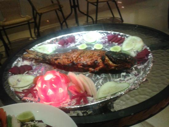 Calangute Grande: Another picture of the mouth watering Fish Tandoori