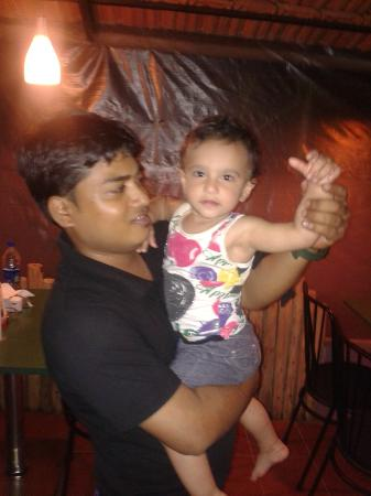Calangute Grande: Suk Kumar with our daughter Zenia