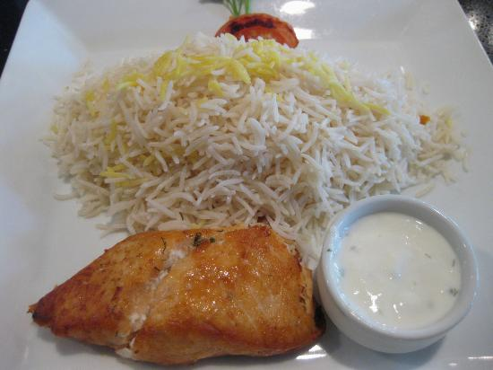 Mazadar Kabob: The Salmon was cut off by the upload!