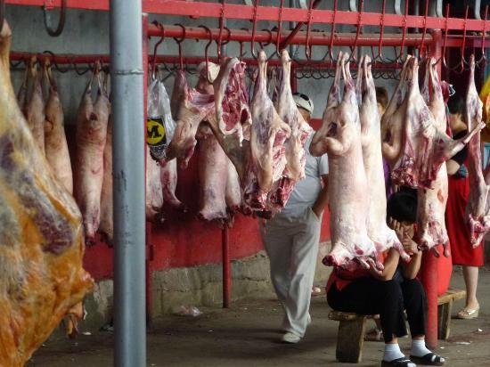 Osh Bazaar : Fettsteiß-Schafe