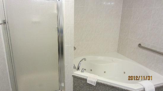 Drury Inn & Suites Dayton North: Jet tub with separate shower with soap, shampoo and conditioner.