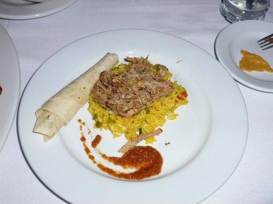 Aqua Sol Restaurant & Bar:                   Aqua Sol 1/2 pork taco entree