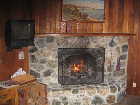Ireland's Rustic Lodges: Great fire place