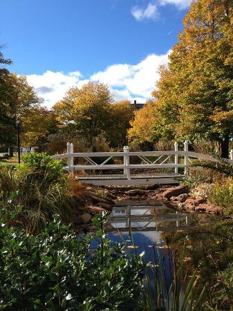 Heritage Inn & Gardens: Tignish Heritage Inn garden pond, Tignish PEI Canada