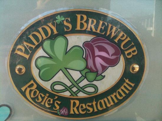 Paddy's Brewpub & Rosie's Restaurant: Outdoor sign