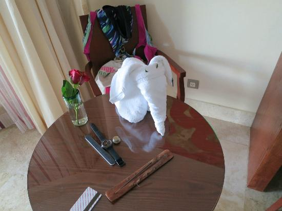 Excellence Playa Mujeres: cute elephant left in our room