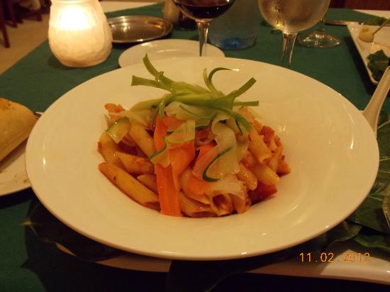 Tikehau Pearl Beach Resort: Veggie Pasta