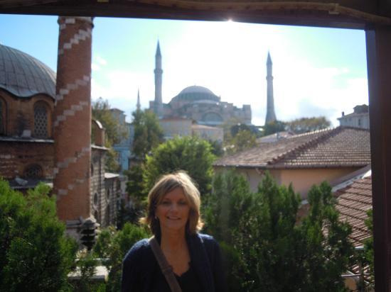 Zeynep Sultan Hotel: Vue de la terrasse