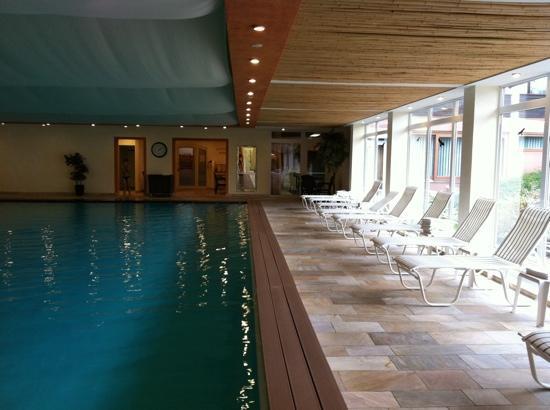 Hotel Oberwiesenhof: vue piscine et transats