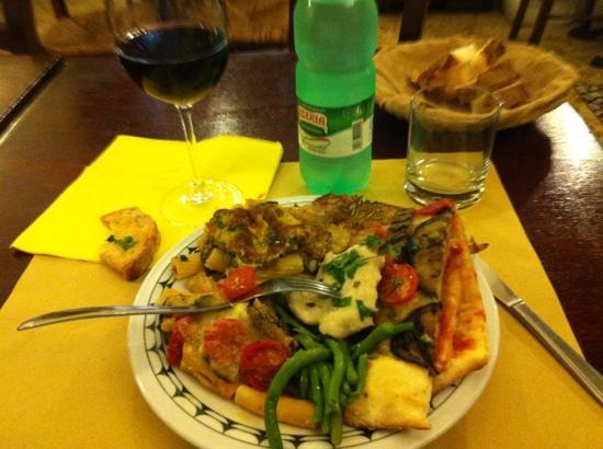 Sistorante : 8 € menu- open buffet plate