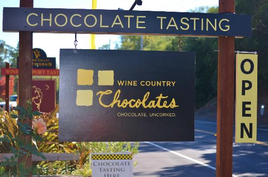 Wine Country Chocolates: The sign that stopped me in my tracks